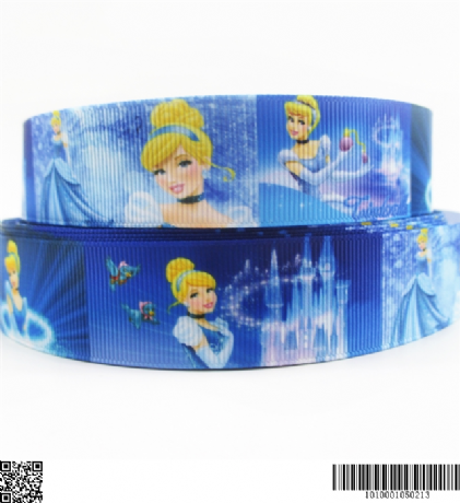 1 METRE NEW CINDERELLA RIBBON SIZE 1 INCH BOWS HEADBANDS CLIPS CARD MAKING BIRTHDAY CAKE